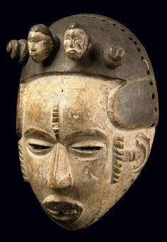 Africa | Mask from the Idoma people of Nigeria | Wood, polychrome paint