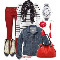 A fashion look from July 2013 featuring H&M tops, Madewell jackets and True Religion jeans. Browse and shop related looks.