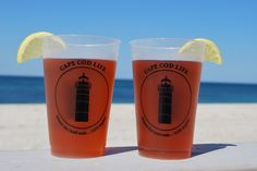 These 14-ounce stackable, flexible cups are great to throw in a cooler to take to the beach or to enjoy your favorite beverages at home! Each cup is printed with Cape Cod Life's iconic lighthouse and brand philosophy. Dishwasher safe and sold in sets of 6.
