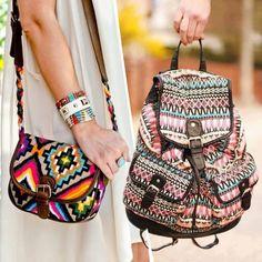 Bolsa Étnica #ethnicprint #estampaétnica #bags #backpack