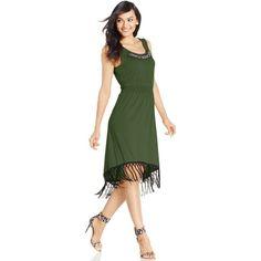 fc4ac3e6100 Ny Collection Fringed High-Low Maxi Dress ( 30) ❤ liked on Polyvore Ny