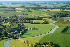Area around the Linge, de Lek and de Kromme Rijn, three rivers in Holland.