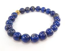 Blue Lapis Bracelet Stretch Bracelet  by ChristinesJewelry, $18.00