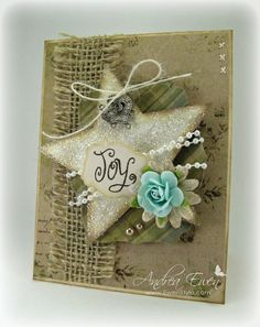 Delightfully lovely and so sweetly rustic! #Christmas #cards #paper_crafting