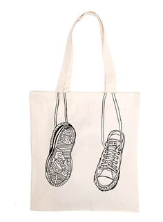 Love the fabric illustration: 100% cotton canvas tote bag. Design by One & The Same.