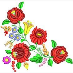 Embroidery Flowers Pattern, Flower Patterns, Flower Designs, Color Patterns, Hungarian Embroidery, Folk Embroidery, Hand Embroidery Designs, Colour Images, Folk Art