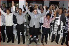 Luis Abinader anuncia recibe apoyo de 101 de 151 Presidentes Municipales del PRM