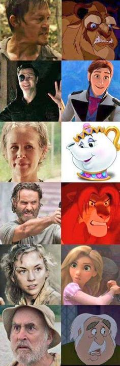 TWD x Disney // spot on ;-;