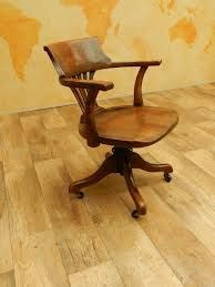 antique office chair - solid wood