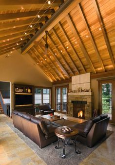 open beam ceiling lighting. Cathedral Ceiling Lighting Living Room Rustic With Cable Exposed Open Beam A