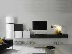 Modern living room wall unit - Best Home Decorating Ideas - How To Design A Room - homehomedecor Living Room Wall Units, Living Room Designs, Living Room Furniture, Modern Tv Unit Designs, Modern Wall Units, House Outside Design, Tv Wall Design, Cool Rooms, Interior Design