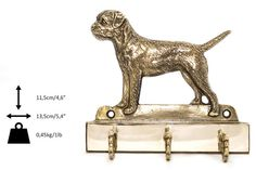 Border Terrier dog hanger for clothes limited by ArtDogshopcenter