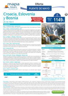 Croacia, Eslovenia y Bosnia Puente de Mayo**Precio final desde 1149** ultimo minuto - http://zocotours.com/croacia-eslovenia-y-bosnia-puente-de-mayoprecio-final-desde-1149-ultimo-minuto-2/