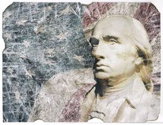"8 x 11"" intervened digi-art homage PRESIDENTS of the United States - James Madison"