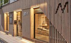 Partidesign & cht architect coffee shop в 2019 г. shop front design, re Shop Interior Design, Retail Design, Store Design, Boutique Interior, Design Garage, Shop Front Design, Facade Design, Exterior Design, Retail Facade