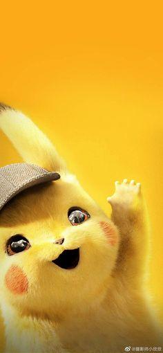 Detective Pikachu - Pokemon about you searching for. Cute Pokemon Wallpaper, Funny Phone Wallpaper, Wallpaper Iphone Disney, Cute Disney Wallpaper, Kawaii Wallpaper, Cute Cartoon Wallpapers, Animes Wallpapers, Phone Wallpapers, Wallpaper Art