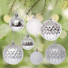 Decorate your tree with these classic Christmas ornaments. Perfect for creating an traditionally decorated tree or using as a base ornament with your fun and stylish accent ornaments. Christmas Ornament Sets, Christmas Decorations, Secret Santa Presents, Knife Block Set, Holiday Looks, Merry And Bright, Gift Cards, Kitchen Gadgets, Stocking Stuffers