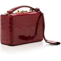 Grace Mini Box Bag | Moda Operandi ❤ liked on Polyvore featuring bags, handbags, red purse, red handbags, mini handbags, red bag and miniature purse