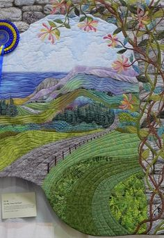 Quilted landscape I LOVE this!! I started one, several years ago, and it makes me want to find it and finish it!