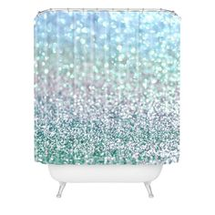 Lisa Argyropoulos Blue Mist Snowfall Shower Curtain | DENY Designs Home Accessories