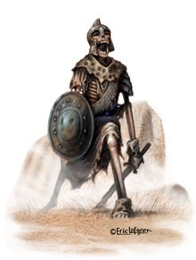 This stock art image by Eric Lofgren depicts an undead warrior in RGB colour. $10.  www.rpgnow.com/product_info.php?products_id=124096&affiliate_id=34429&src=Pinterest