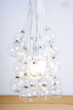 Hanging Bubble Light Fixture by IndustrialUpcycled on Etsy