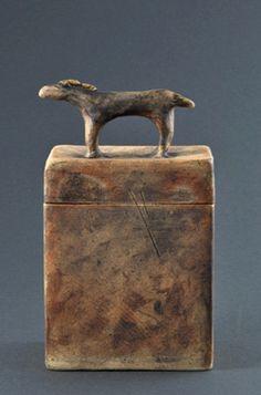 Spirit Horse Ceramic Box Urn. $225.00, via Etsy.