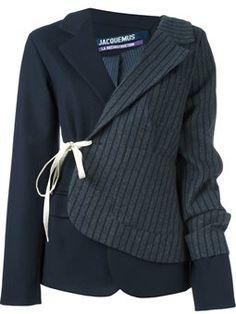 patchwork blazer jacket