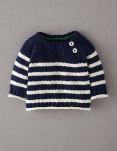 Explore our exciting range of baby knitwear at Boden. Knitting Patterns Boys, Baby Boy Knitting, Baby Cardigan Knitting Pattern, Knitting For Kids, Baby Patterns, Free Knitting, Baby Boy Sweater, Knit Baby Sweaters, Crochet For Boys