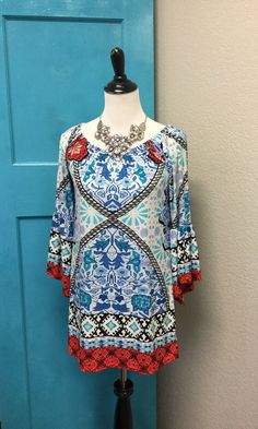 429a3a34 Geo Americana Tunic - Final Sale Paisley Grace Boutique, Geo, Tunic,  Turquoise,