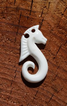 Maori Sea Horse Bone Carving