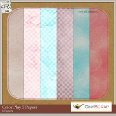 Color Play 5 - Papers by Giny Scrap : Scrap Art Studio, Where Creativity Soars
