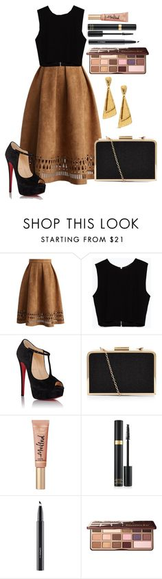 """Untitled #1275"" by fabianarveloc on Polyvore featuring Chicwish, Zara, Christian Louboutin, Too Faced Cosmetics, MAC Cosmetics and Chico's"