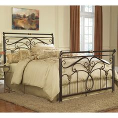 king+bed+frame+metal   Lucinda Iron Bed by Fashion Bed Group   Wrought Iron Metal Bed Frames