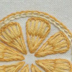 レモンとオレンジの簡単刺繍 の画像|【かんたん刺繍教室】たった6つのステッチだけでらくらく刺繍上達ブログ