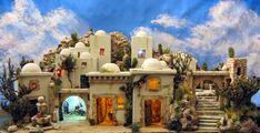 CREACIONES SANCHO: POBLADO Nativity House, Fairy Houses, Doll Houses, Holy Night, Miniature Houses, Dollhouse Miniatures, Taj Mahal, Around The Worlds, Building