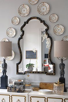 Love this mirror and plates