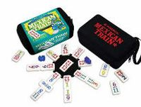 Mexican Train to Go Domino Game and thousands more of the very best toys at Fat Brain Toys. 91 Double 12 Fun Size Number Dominoes, 8 Glitter Train Markers and a Mini-Centerpiece make up this greatest version of Mexican Tra. Family Games To Play, Family Games Indoor, Indoor Games For Kids, Mexican Train Dominoes, Play Therapy Techniques, Go Game, Fun Size, Family Game Night, Jouer