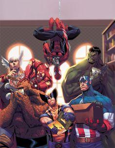 Marvel-verse reading comics!
