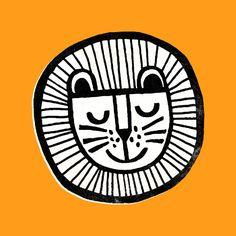 HAPPY LION Art Print
