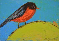 Katherine Jeanne Wood - 7x5 Bird Series No 81 01