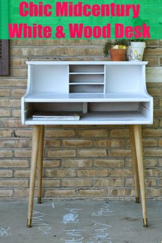 Primitive  Proper: Chic Little Leggy Midcentury Modern Desk