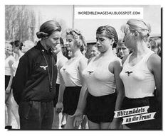 Ladies of the Hitler Women. (BDM). One shudders to think what happened to them in 1945.