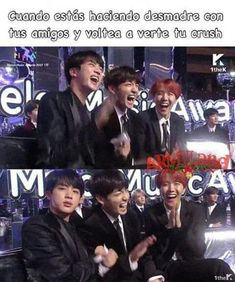 Me da mucha risa cuando Jin hace eso se está riendo y derrepente se pone serio como si nada jajaja