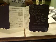 Wedding program-use cricut and then accordian fold inside