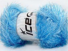 Fiber Content 80% Polyester 20% Lurex Light Blue Brand Ice Yarns fnt2-46562