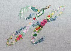 Mille fiori alphabet - H