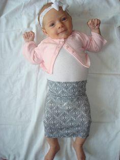 Baby Maxi Skirt - Black and White (newborn)