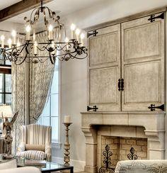 C R I B S U I T E #RealEstate #House #Home #Interior #Design #Decor Flat screen concealed