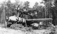 Mistel bomber being camouflaged.